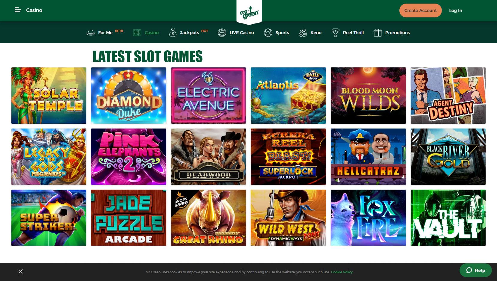 Mr Green Free Slots